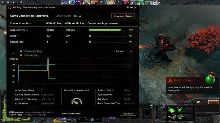 how to overcome dota 2 lag and packet loss kill ping
