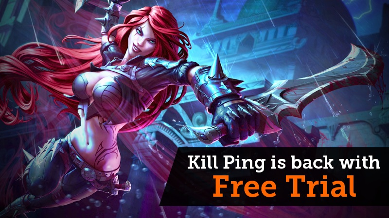 Reduce Dota 2, CS:GO, LoL Lag - Kill Ping