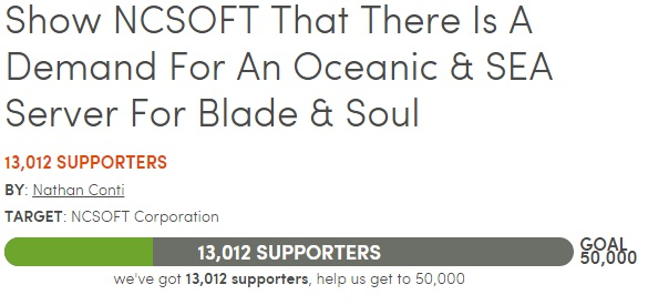 Blade And Soul Community Petition For Sea Servers  Kill Ping  Kill